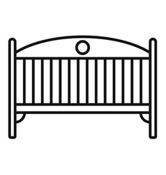 Baby crib icon outline style vector