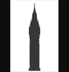 big ben stipple silhouette vector image