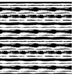 black horizontal lines hand drawn seamless pattern vector image