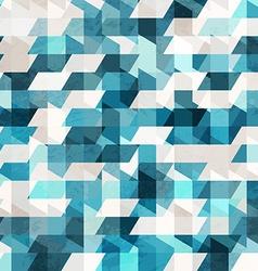Blue pixel seamless pattern vector