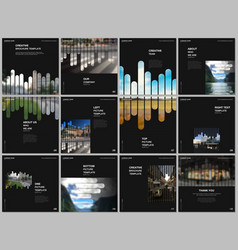 brochure layout square covers design templates vector image