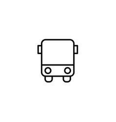 bus car icon vector image