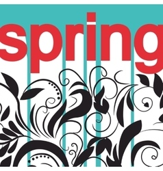 card with print and sign spring vector image
