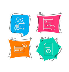 Cashback internet report and communication icons vector