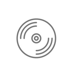 cd disk dvd line icon vector image