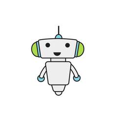 Cute robot icon vector