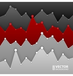 Dark grey and red graph design for workflow layout vector