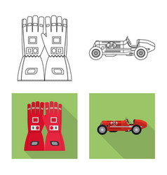 Design of car and rally logo set of car vector