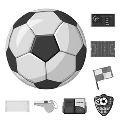 Design of soccer and gear symbol vector