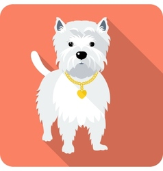 Dog West Highland White Terrier icon flat design vector