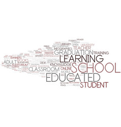 Educated word cloud concept vector