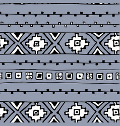 ethnic abstract geometric pattern in black and vector image