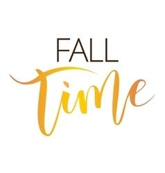 Fall time hand written inscription vector