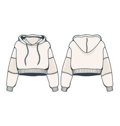 Female sweatshirt with hood vector