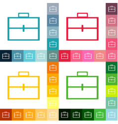 Flat icon briefcase bag business theme vector