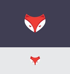 Fox icon template vector image