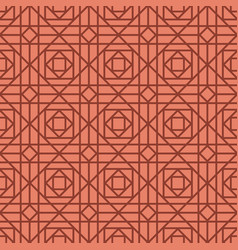 geometric linear red retro pattern vector image