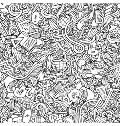 hand drawn school seamless pattern vector image