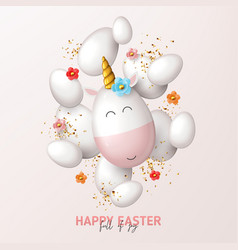 happy easter holiday card vector image
