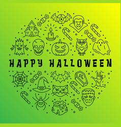happy halloween card gradient app background vector image