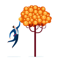 Harvesting business tree vector