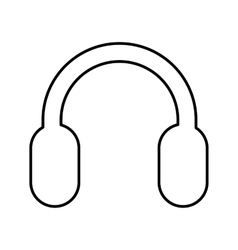 Headset sound device isolated icon vector