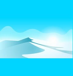 Ice landscape mountain and ice vector