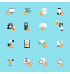 Information Security Icon Flat vector