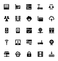 Internet Networking and Communication Icons 1 vector image