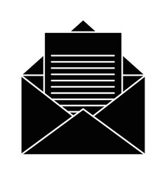 isolated open envelope vector image