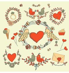 Love inspired design elements vector
