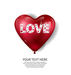 Love shape made from element on big heart vector