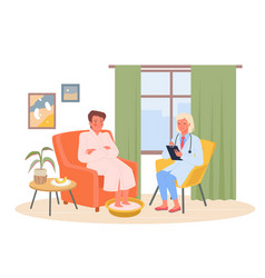 medical appointment therapist call healthcare vector image