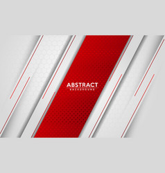 Modern abstract white and red background with 3d vector