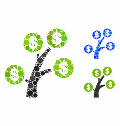 money tree composition icon circle dots vector image