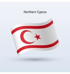 Northern Cyprus flag waving form vector