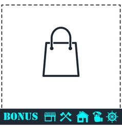 Pack icon flat vector