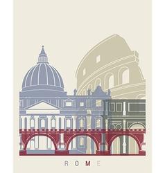 Rome skyline poster vector