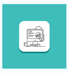 round button for analytics board presentation vector image