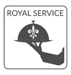 Royal service sign vector