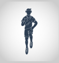 Run running man icon logo vector
