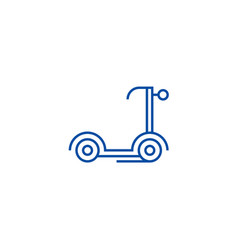 Scooter kick line icon concept scooter kick flat vector