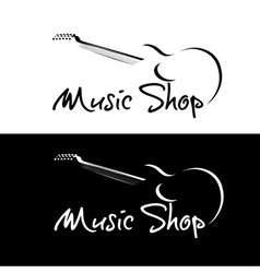 set of music shop emblems vector image