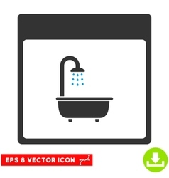 Shower Bath Calendar Page Eps Icon vector