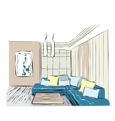 Sketch of a interior vector image