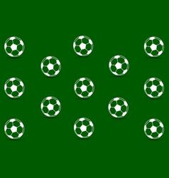 soccer ball - pattern vector image