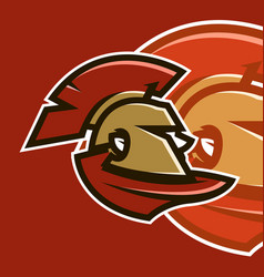 sports logo spartan warrior vector image