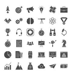 startup solid web icons vector image