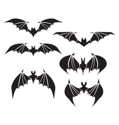 Symbol of bat with big wings vector