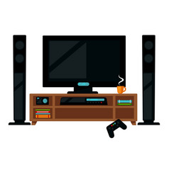 tv set with gamepad vector image